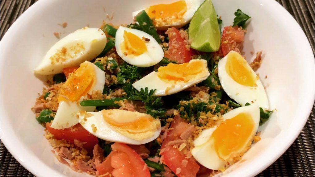 EASY SALAD RECIPE FOR MY HUSBAND | TUNA SALAD WITH EGG AND VEGGIES