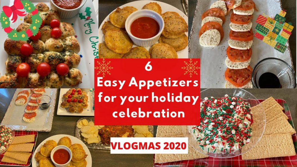 FAST & EASY CHRISTMAS HOLIDAY APPETIZER RECIPES // Vlogmas 2020