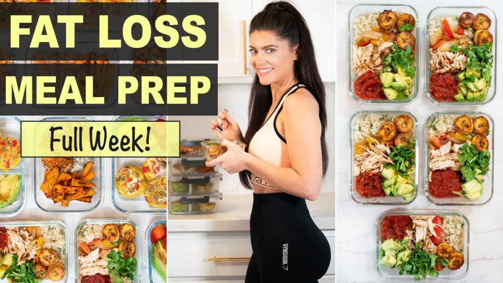 NEW!  SUPER EASY 1 WEEK MEAL PREP FOR WEIGHT LOSS | Healthy Recipes for Fat Loss