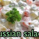 Simple Russian salad recipe with only a few ingredients!