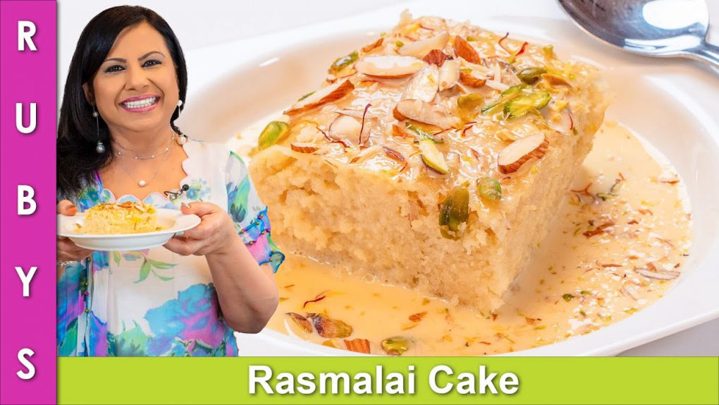 Rasmalai Cake One Pan No Oven Fast & Easy Recipe in Urdu Hindi – RKK