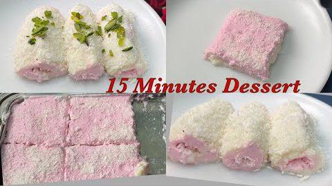 15 Minutes Dessert with 1 cup milk, Turkish Delight , Instant Dessert , Rita Arora Recipes