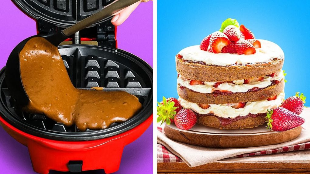 28 Creative Dessert Recipes That Will Surprise You || Easy Ways to Cook In The Waffle Maker!
