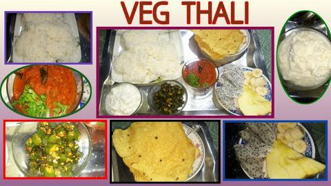 VEG INDIAN THALI/MEALS FOR VEGETARIANS & BACHELORS WITH TIPS/COOK WITH AUTHENTIC INDIAN COOK & VLOGS