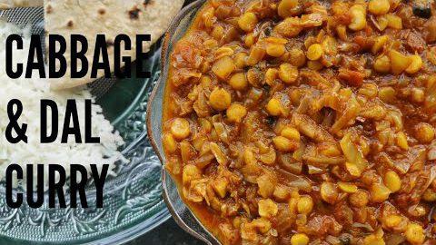 कोबी आणि चणा डाळीची रस्सा भाजी | Cabbage & Chana Dal Curry I Kobichi Bhaji in Pressure Cooker