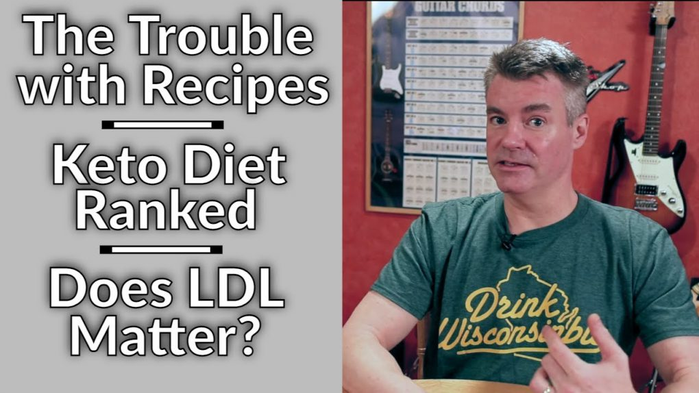 Video Podcast #48: The Trouble with Recipes, US News Rates Keto, My Lipid Panel