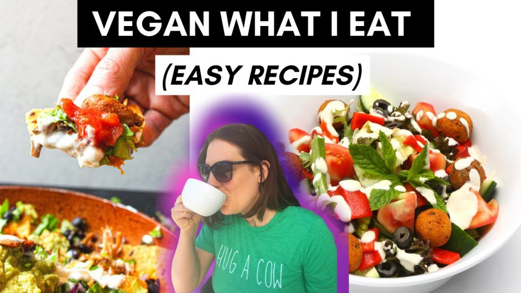 WHAT I EAT IN A DAY / Easy VEGAN recipes / VEGAN NACHOS