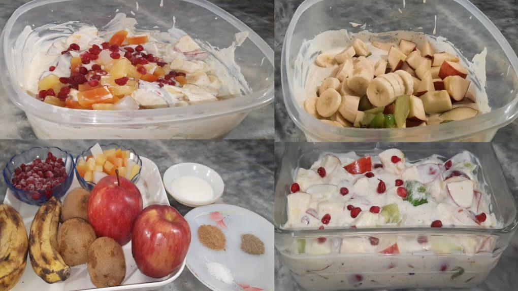 Fruit Salad Recipe | How To Make Fresh Fruit Salad | Cooking with malika