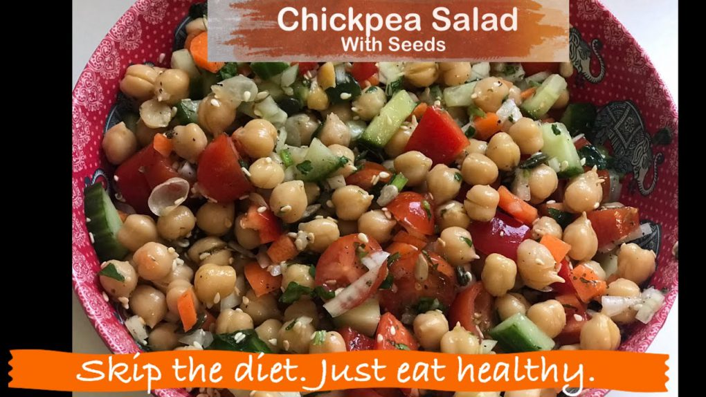 Chickpea Salad with Seeds (Vegan)| Protein Salad | Salad Recipes | Healthy Salad for Weight Loss