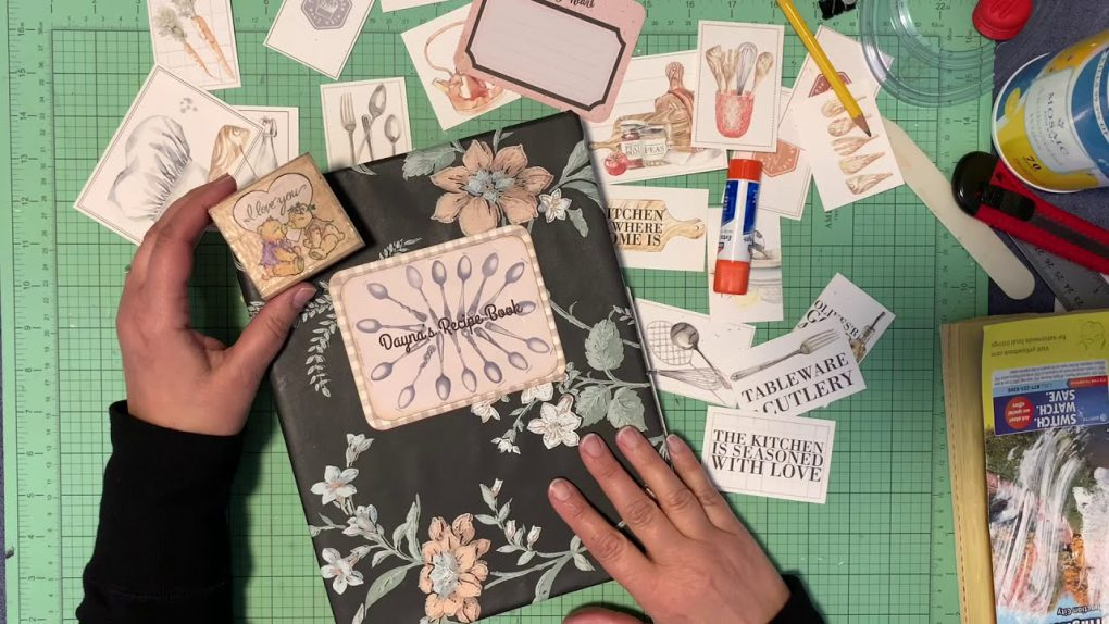 Old Photo Album Made Into Recipe Binder – Finishing Touches