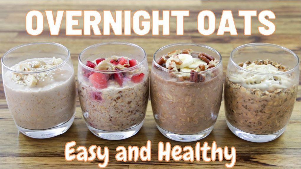 Overnight Oats – 4 Easy & Healthy Recipes (Vegan)