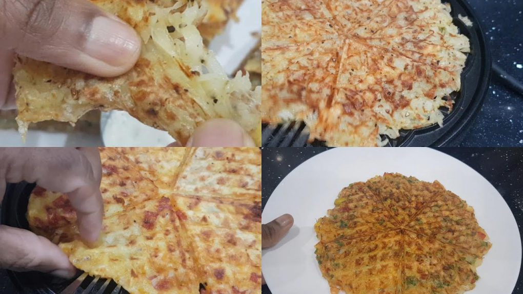 Three Potato Waffles recipes : cheese, Veggie and Pepperoni Waffles