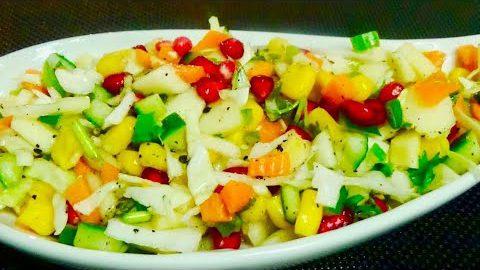 കളർഫുൾ സാലഡ്    Mixed Salad    Fruit & Vegetable Mixed Salad    Healthy & Tasty Salad