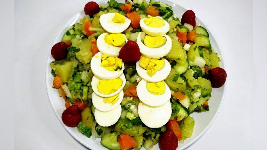 Healthy salad recipes! Salad for weight loss.  دستورالعمل سالاد سالم! طرز تهیه سالاد برای رژیمی.