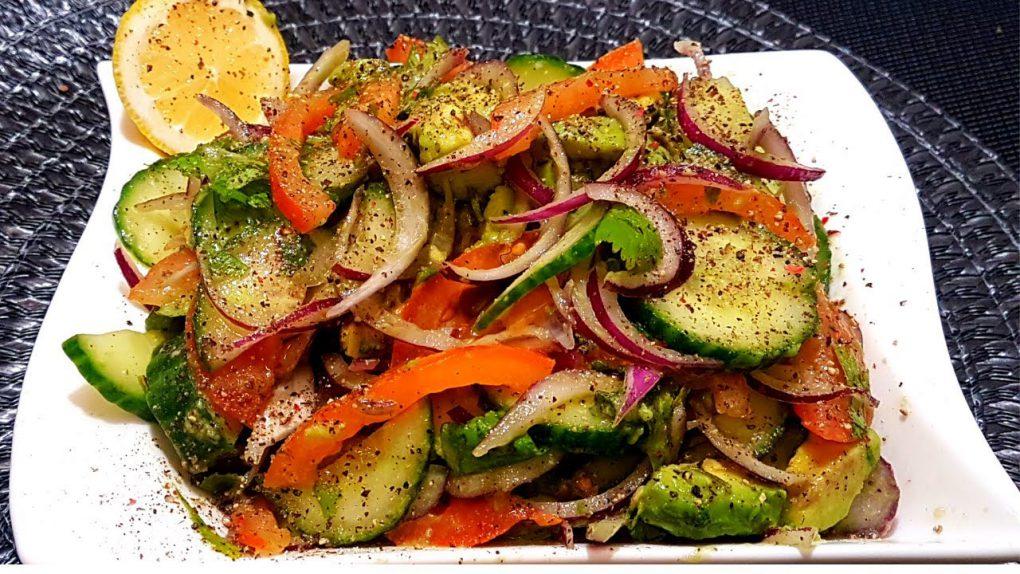 Salads: Cucumber Tomato Avocado Onion Salad Recipe – Cook with Fazila