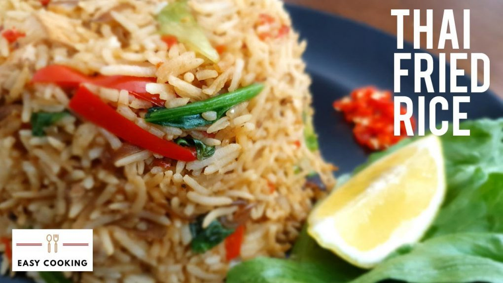 Thai fried rice | Vegetarian Spicy Thai Fried Rice Recipe | Easy Cooking