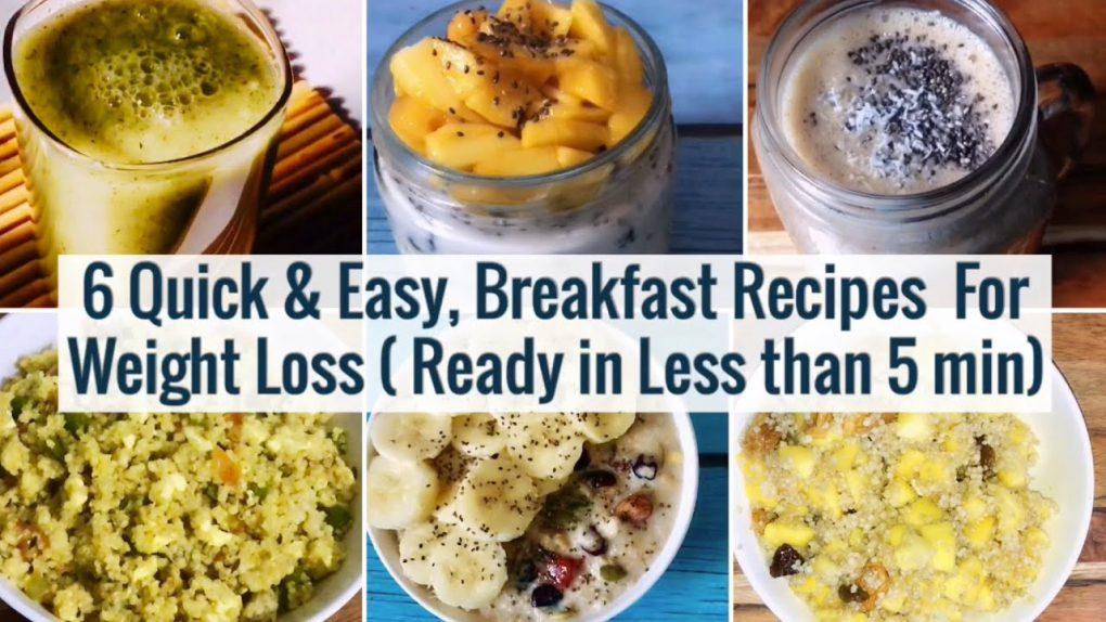 6 Quick & Easy Breakfast Recipes | Meal Planning | For Weight Loss | 2 Min Healthy Veg Breakfast