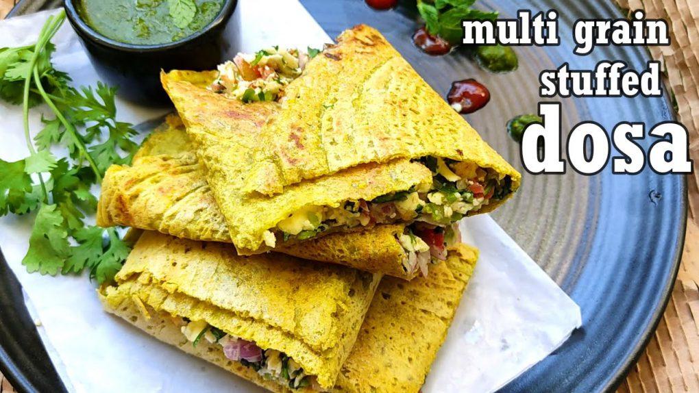 multi grain stuffed dosa|Protein Rich Breakfast Recipes|Healthy Breakfast Recipe|instant dosa recipe