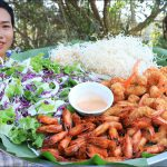 Cooking shrimp crispy recipe with vegetable salad recipe – Cooking skill