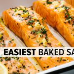 BAKED SALMON | easy, no-fail recipe with lemon garlic butter
