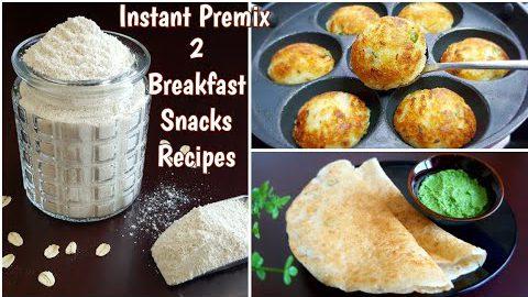 Instant Snacks & Breakfast Premix | 2 Instant Breakfast Recipes with Oats Poha Premix