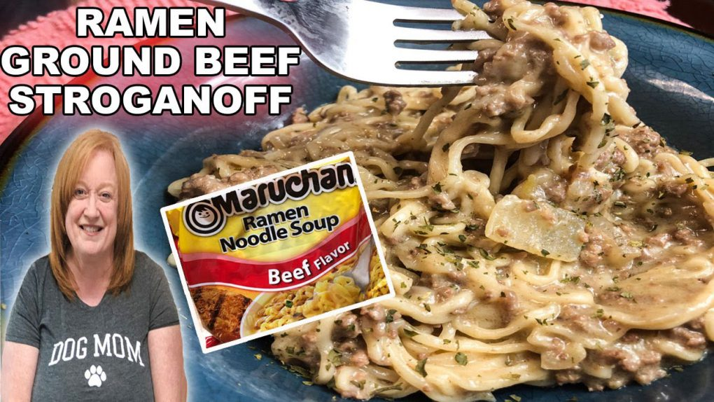 RAMEN GROUND BEEF STROGANOFF RECIPE | Fast & Easy One Pot Weeknight Meal
