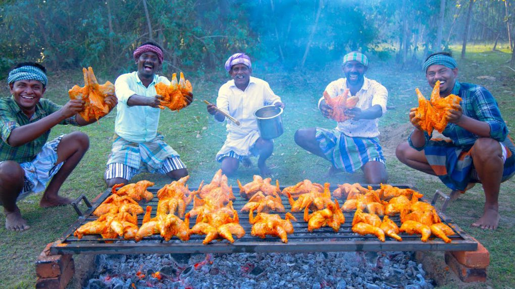 CHICKEN BBQ | Healthy Country Chicken Barbeque Recipe Cooking In Village | Grilled Chicken Recipe