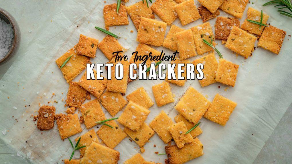 Two Ingredient Keto Crackers | Simple Keto Snacks