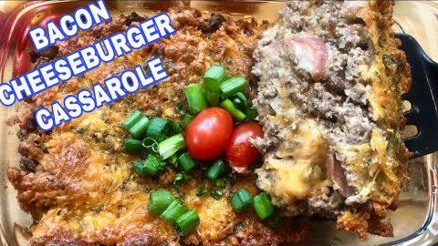 EASY BACON CHEESEBURGER CASSAROLE RECIPE | QUICK EASY KETO RECIPE | LOW CARB MEAL PREP
