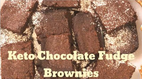 Keto Recipes – Chocolate Fudge Keto Brownies Low Carb