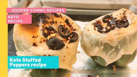 Keto Diet Recipe | Keto Stuffed Peppers Recipe | Stuffed Chicken Cheese Pepper Recipe by Sooperyummy