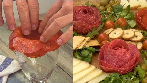 Salami rose: how to make a great appetizer with a genius hack!