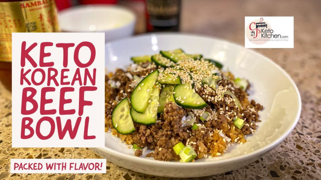 Keto Korean Beef Bowl #ketorecipes #lowcarbrecipes #EasyKetoRecipes #easylowcarbrecipes
