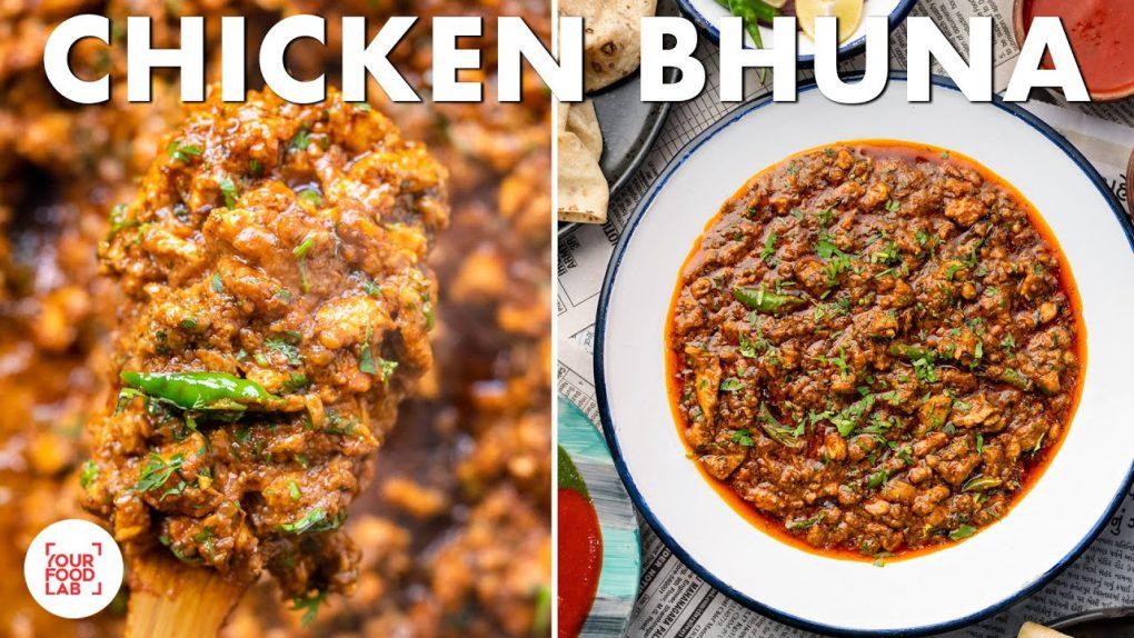 Chicken Bhuna Recipe | Street Style Green Chutney & Red Chutney | Chef Sanjyot Keer