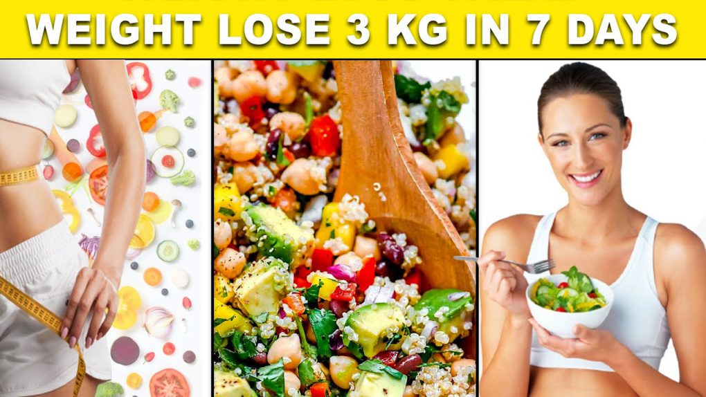 Healthy & Easy Salad Recipe For Weight Loss | Lose 3 Kgs in One Week