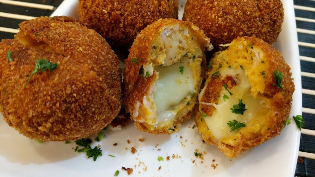Chicken Cheese Balls   The perfect party appetizer   Minced Chicken Balls Stuffed with Cheese