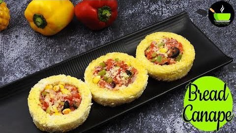 Bread Canapes | Veg Rings | Instant Breakfast | Healthy Snacks Recipe | Bread Appetizer Recipes