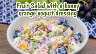 Fruit Salad with Yogurt Dressing Recipe | Fruit Salad With Yogurt | Salad Recipe