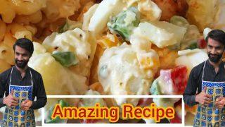 Russian salad Recipe Simple and Restaurants style ||  salad Recipe Urdu in Hindi || recipe by Sadiq.