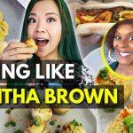 Trying TABITHA BROWN Recipes~ Carrot Hot Dogs?! Vegan Devilled Eggs, Vegan Mac & Cheese!