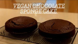 VEGAN CHOCOLATE SPONGE CAKE || NO EGG RECIPE