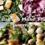 Compilation of Four Salad Recipes: Make Healthy Salads with Radish, Beet, Celery or Chickpeas!
