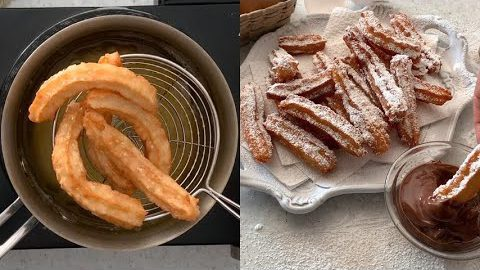 Homemade churros: the Spanish recipe for a cruchy appetizer!