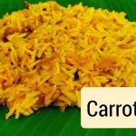 Carrot Rice//rice recipes//nature's veg recipes
