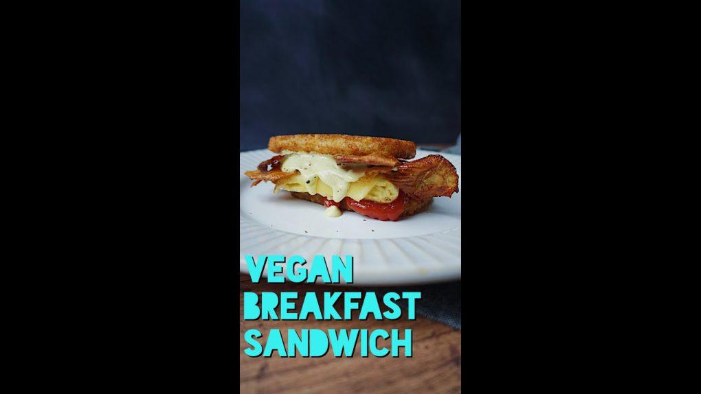 Vegan Hashbrown Breakfast Sandwich | Easy Recipe | Just Egg | Gluten Free | #shorts