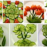 10 Super Salad Decoration Ideas – Vegetable Flower Plate Decoration