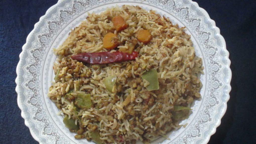Cauliflower Mung Beans Coconut Milk Rice/Dinner Recipes/Veg Recipes/ Cauliflower Recipes 735