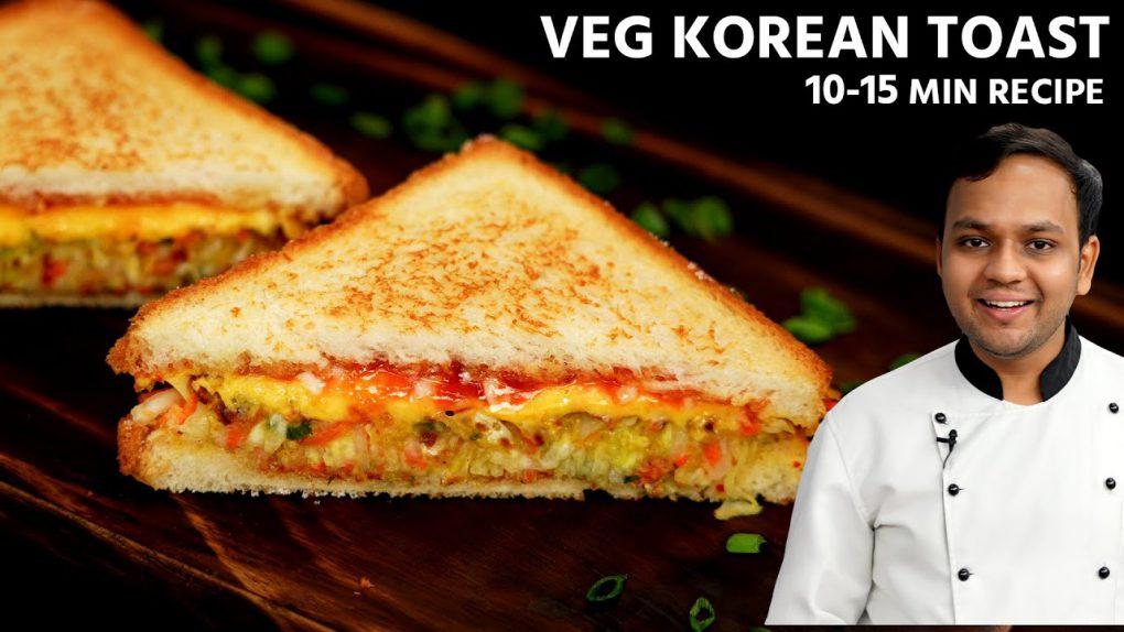 Veg Korean Toast Recipe – 10-15 Min Eggless Sandwich – CookingShooking