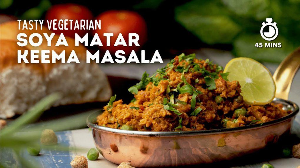 Soya Matar Keema Masala | Soya Peas Keema | Vegetarian Recipes | Healthy Recipes | Cookd