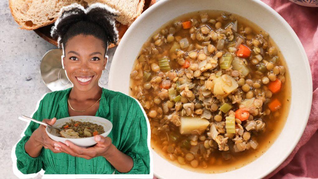 Delicious Vegan Lentil Soup | easy & filling vegan recipe